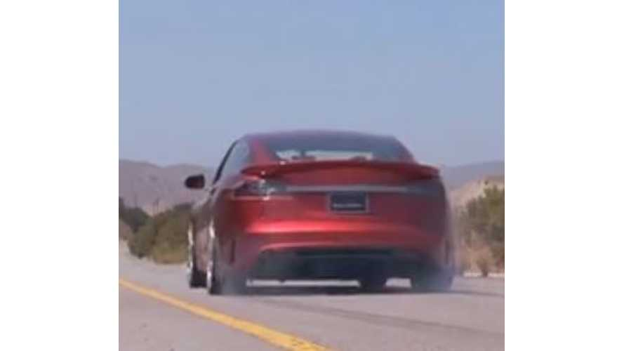 Saleen FourSixteen Tesla Model S Breaks Sound Barrier, Lays Rubber - Video