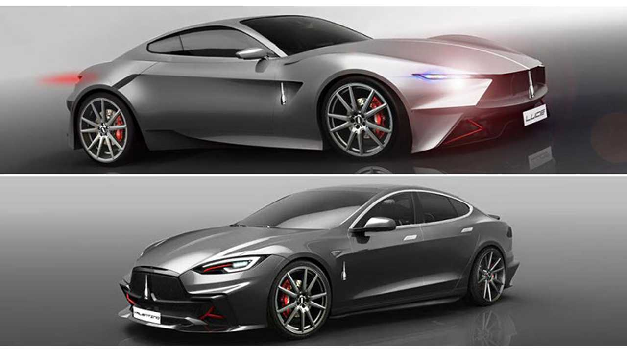 Umberto Palermo Unveils Valentino Tesla Model S & Electric Luce Concept Coupe