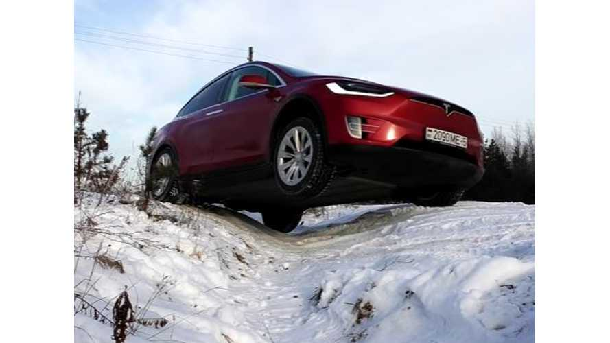 Tesla Model X Goes Off-Roading - Video