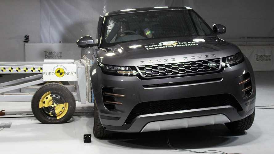 Crash test Euro NCAP, cinque stelle per la Range Rover Evoque