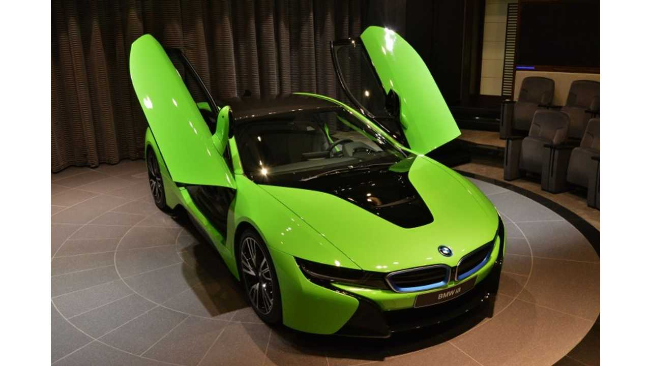 BMW i8 Wrapped In Neon Green...Yuck!