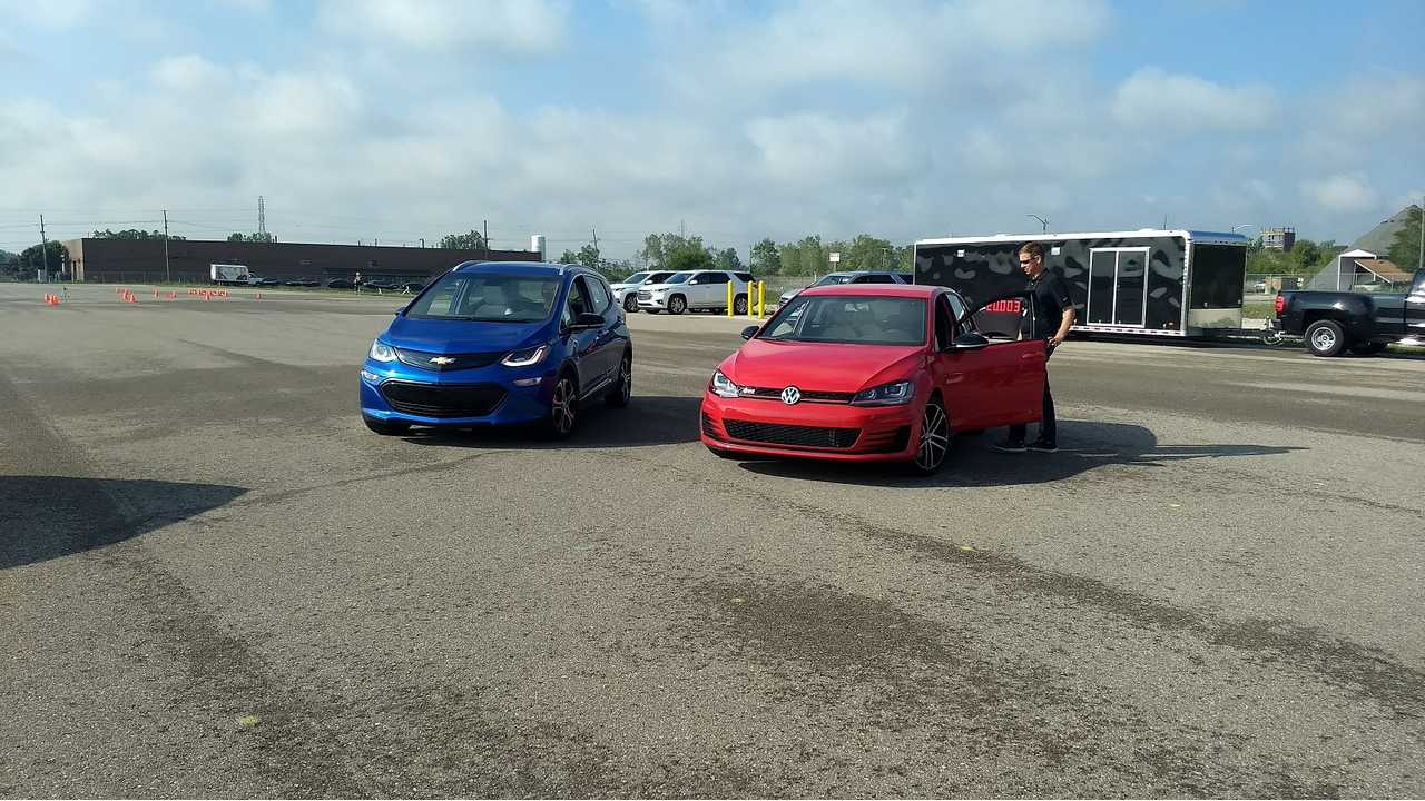 Chevrolet Bolt vs. Volkswagen GTI: We Take A Spin At GM's Autocross Event