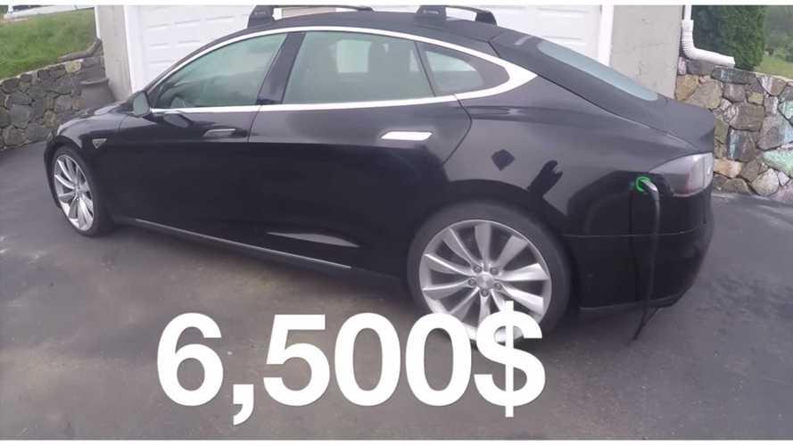 Man Rebuilds Flooded Tesla Model S For Just $6,500 - Video