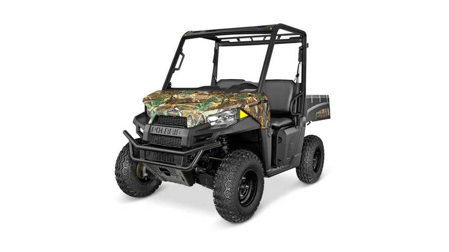 Polaris Introduces RANGER EV Li-Ion Polaris Pursuit Camo (With Brammo Tech)