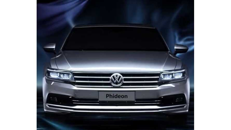 Volkswagen Phideon Revealed In Geneva - PHEV Version Planned (w/video)
