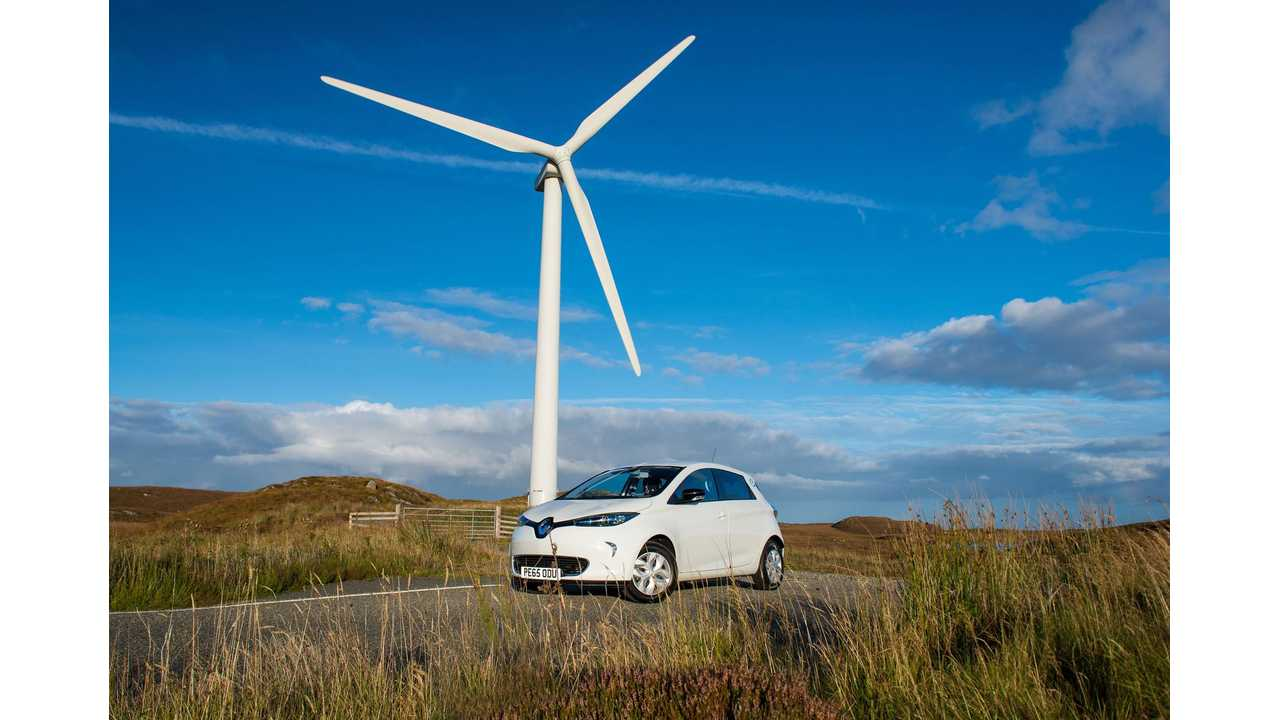 Wind Power Propels Electric Renaults On Scottish Islands