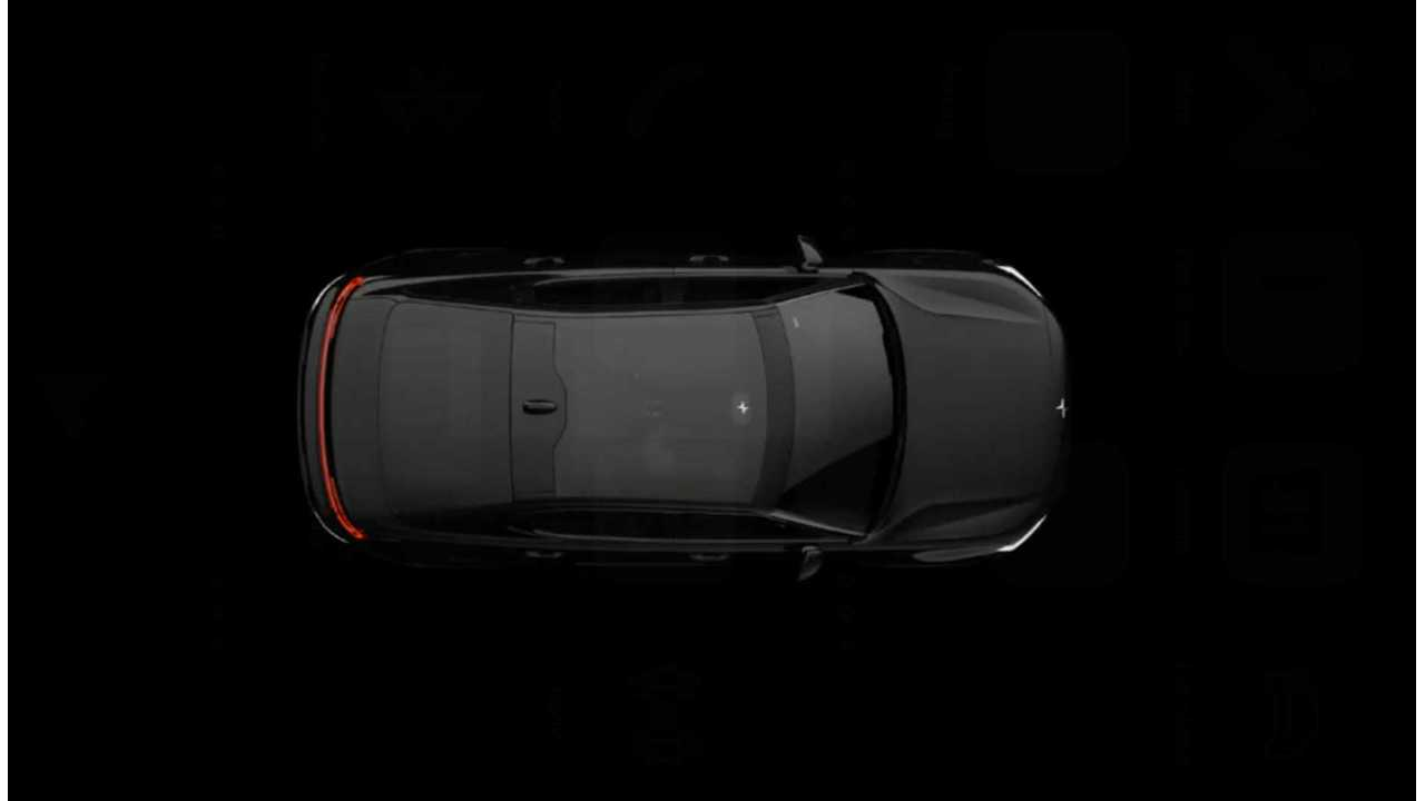 See Overhead View Of New Electric Polestar 2