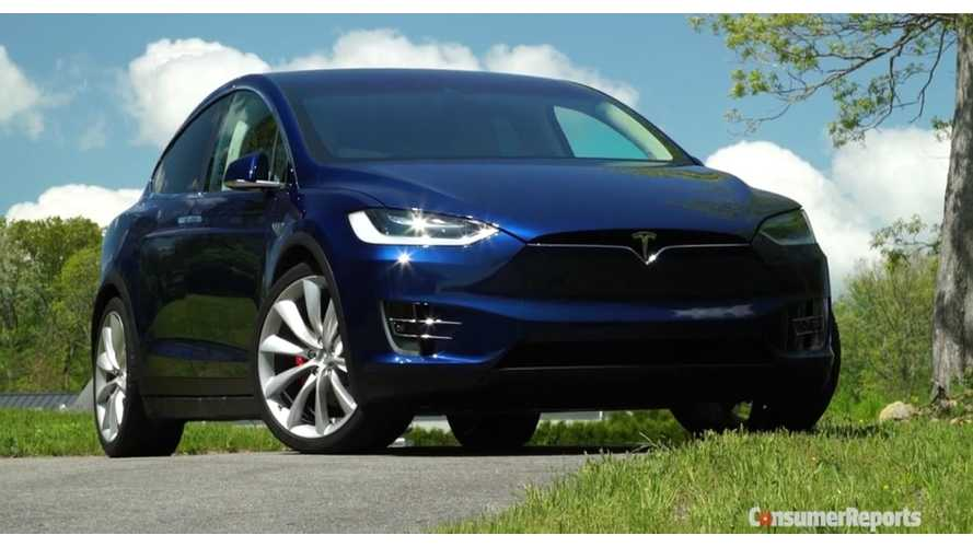 First Drive Of Model X Leaves Consumer Reports Bewildered - Video