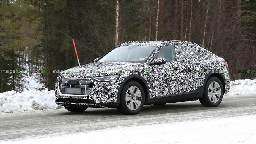 Audi E-Tron Sportback Electric Car Spied Winter Testing