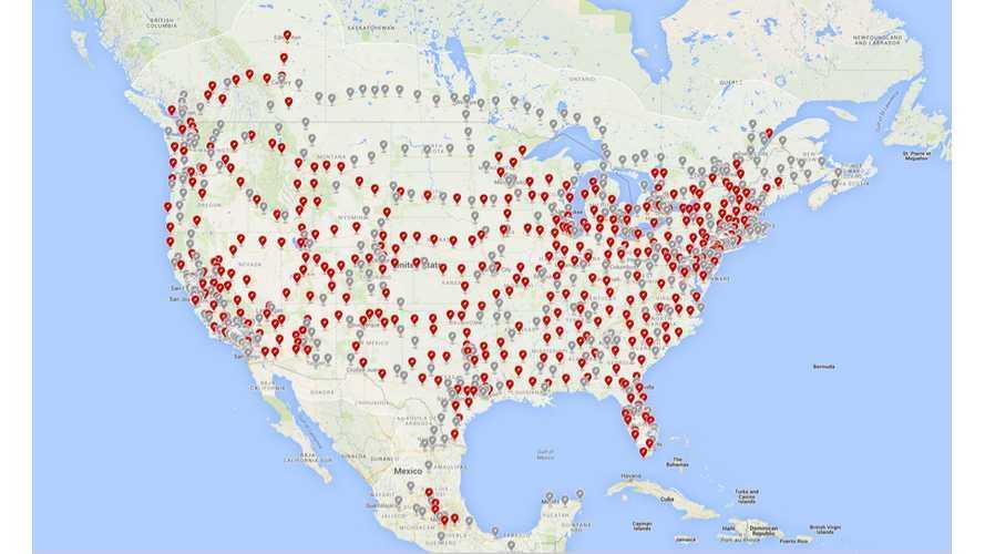 Tesla Supercharger Count Surpasses 1,000