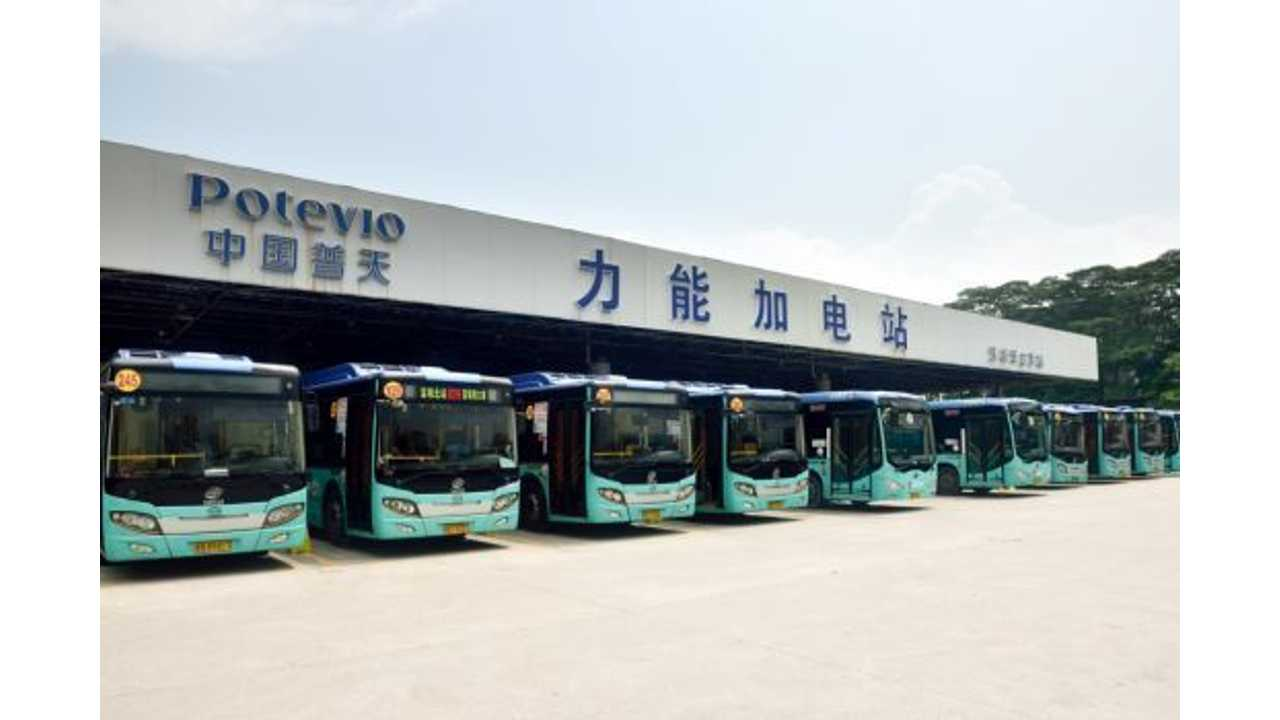 Electric buses in Shenzhen