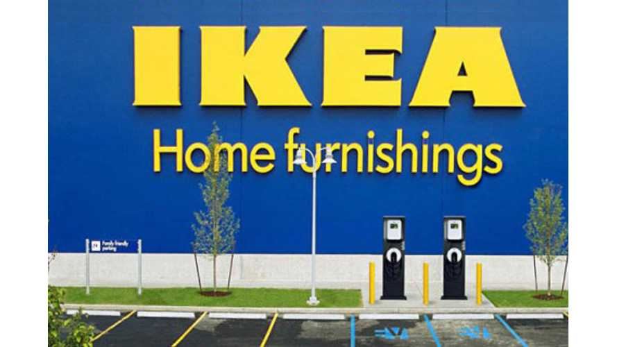 IKEA Going All Electric With Fleet Vehicles, Installing Chargers At Every Store