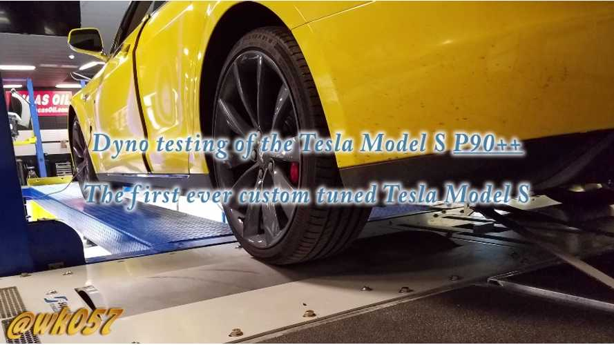 Dyno Testing Tuned Tesla Model S P90++ (Video)