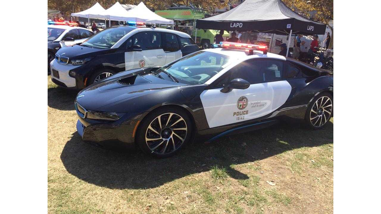 LAPD's Fleet Also Includes BMW i8, As Well As The i3 & Tesla Model S