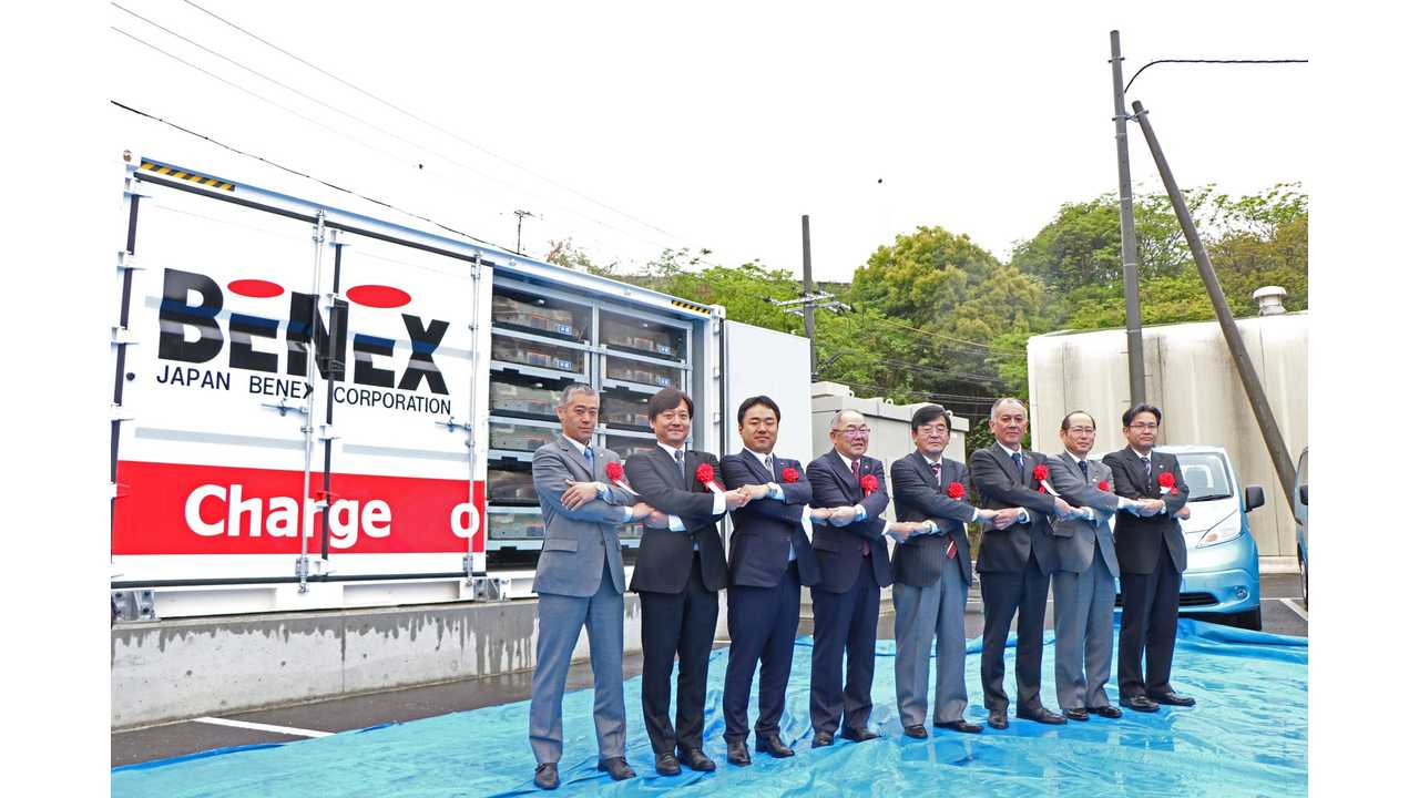 Nissan Batteries Power A Factory In Japan