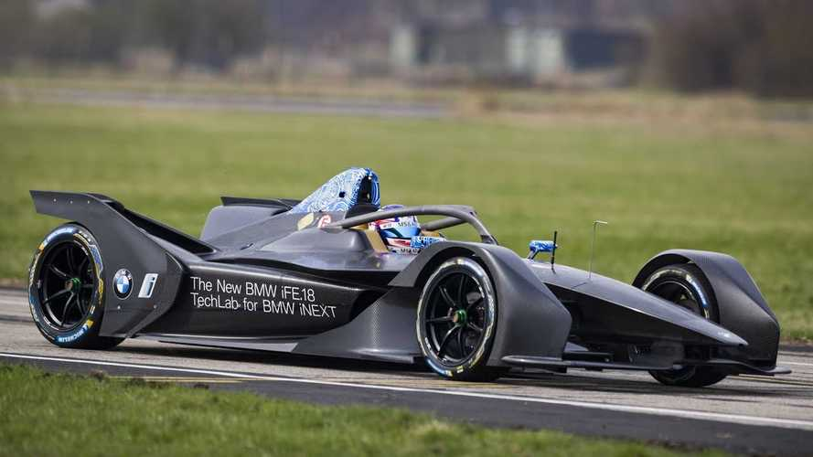 Watch BMW iFE.18 Formula E Car Complete First Run