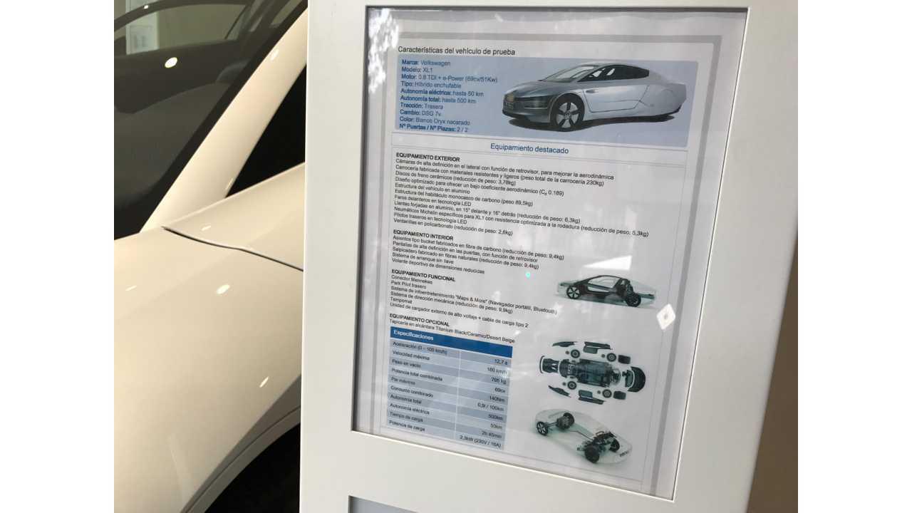VW XL1 Barcelona spec speet