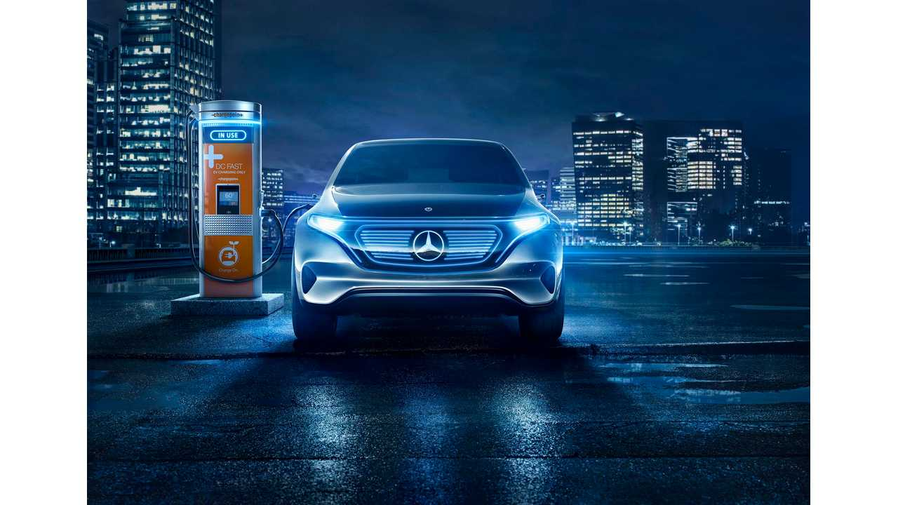Mercedes-Benz EQ Concept Getting A Boost From (up to) 400 kW ChargePoint Station