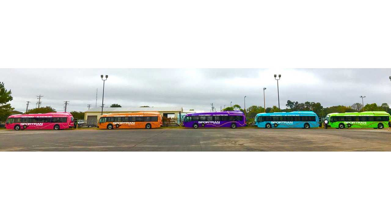 Louisiana's First Five Electric Buses Come Via Proterra