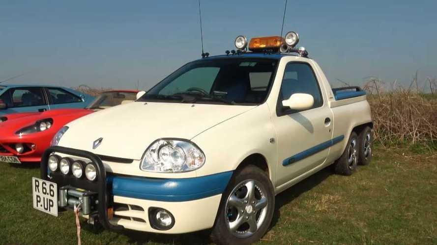 ¿Habías visto alguna vez un Renault Clio 6x2? Aquí lo tienes