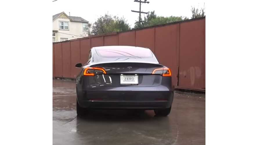 Tesla Model 3 In Midnight Silver Shows Up At OCDetailing - Video