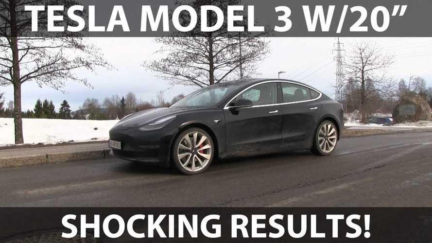 Tesla Model 3 Performance Is So Noisy In 20-Inch Wheel Test: Video
