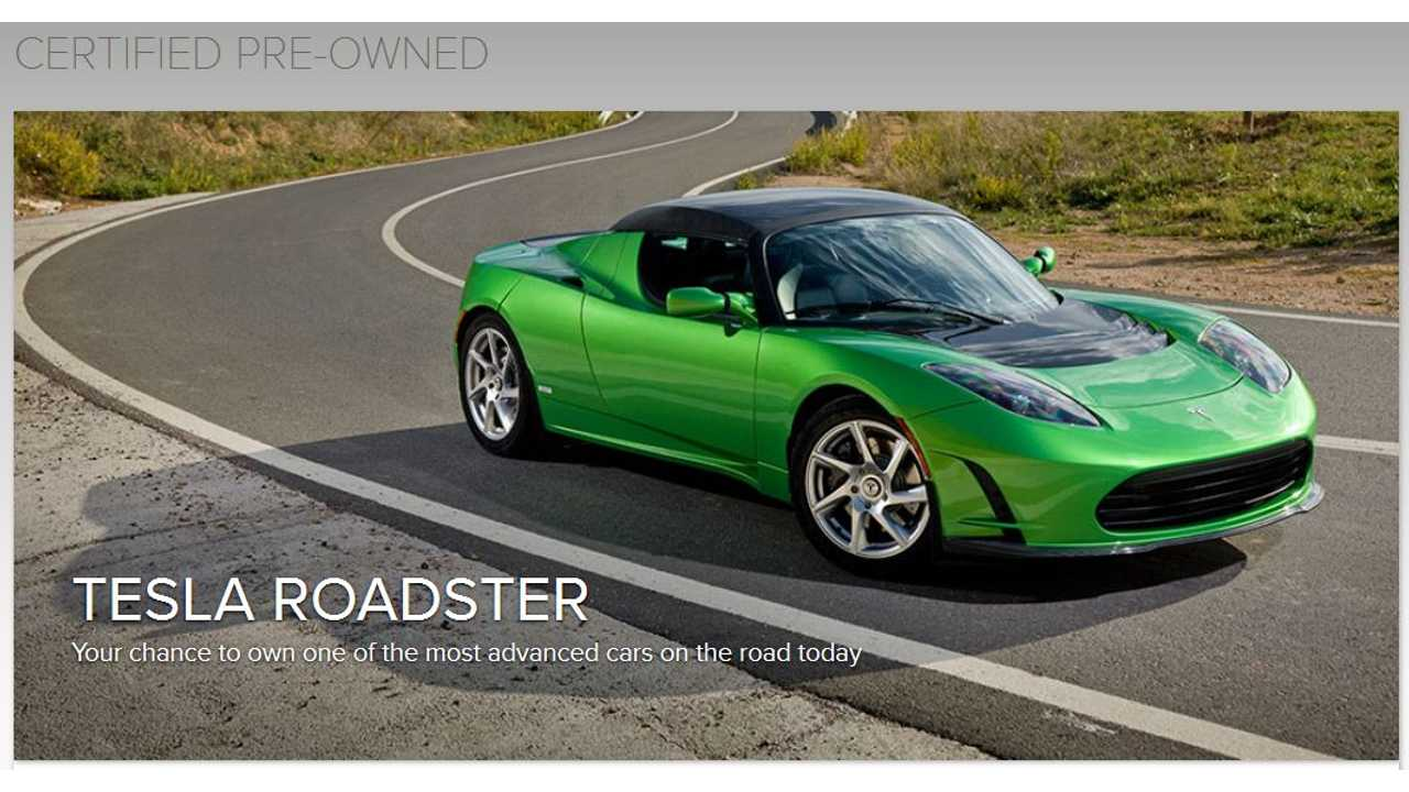 Tesla Certified Pre-Own Roadster Program Has Been Around For Quite Awhile Now