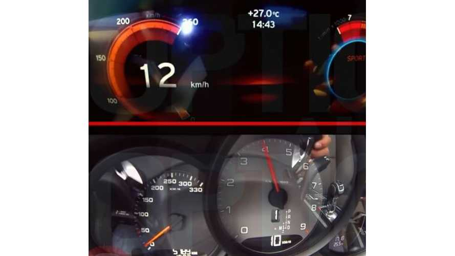 BMW i8 Versus Porsche 911 4S - 0 To 200 KMH Video