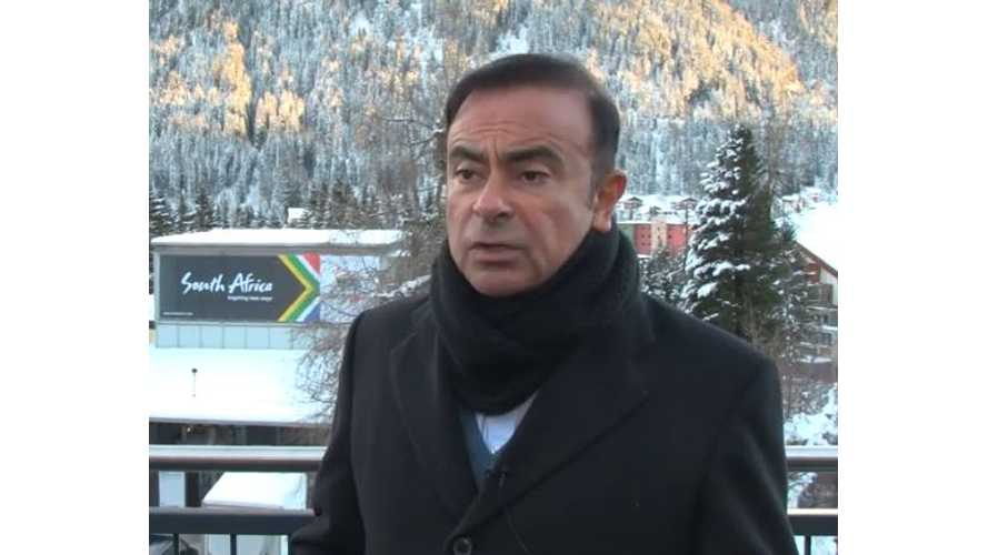 Renault-Nissan CEO Carlos Ghosn Speaks At Davos 2015 - Video