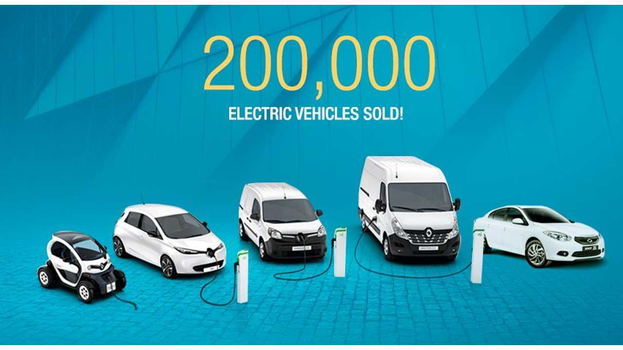 Renault Group Sold 200,000 Electric Vehicles