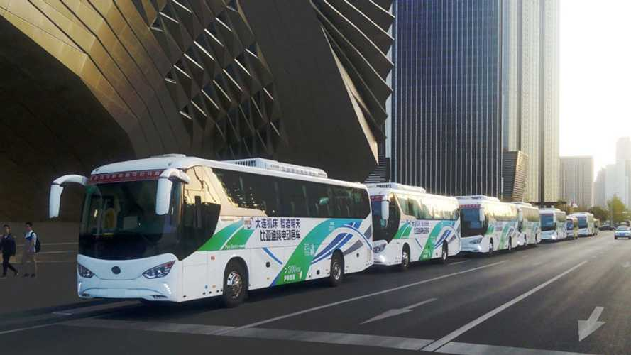 BYD Presents Fleet Of Long-Range All-Electric C9 Coaches