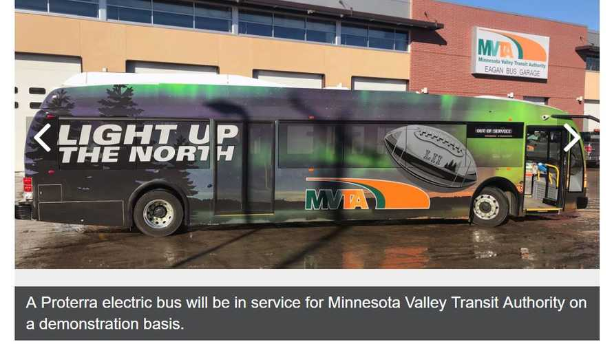 Proterra Catalyst Electric Bus Will Shuttle Super Bowl LII Attendees