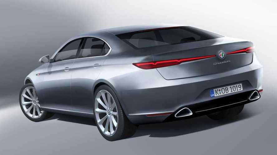 Yeni jenerasyon Alfa Romeo Giulia render