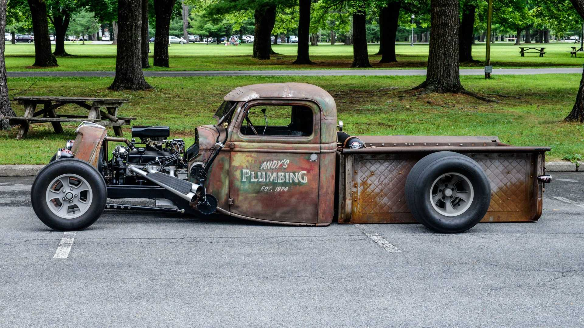 "[""1936 Ford Truck Is A Low-Riding Rat Rod""]"