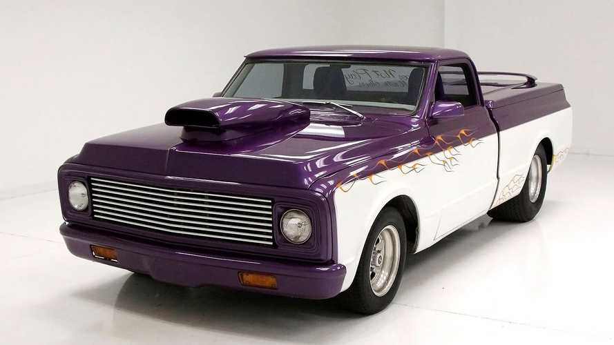 Chopped, Shaved 1971 Chevrolet C10 Is A Purple People Pleaser