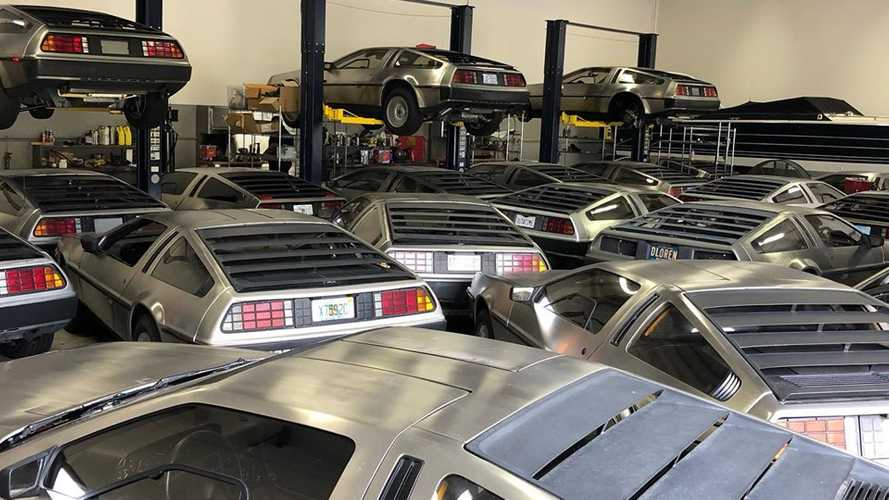 Dozens of DeLoreans Hiding From Hurricane Dorian In Storage