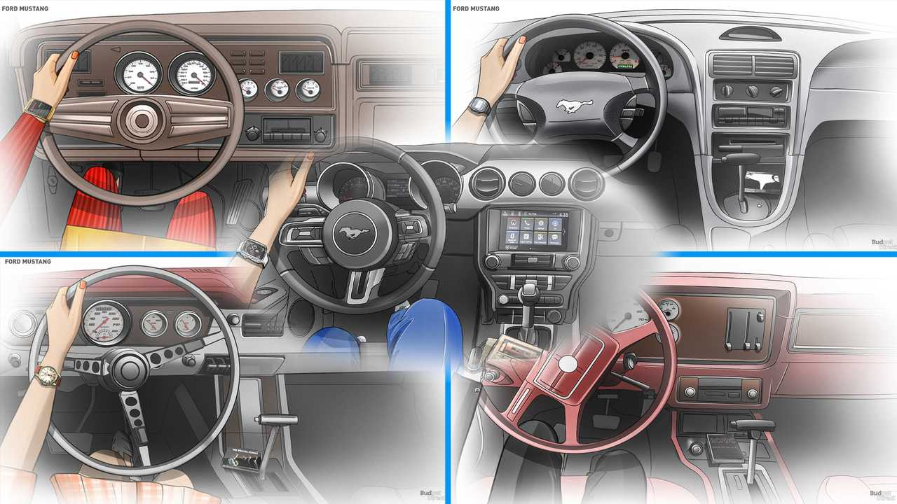 Ford Mustang Interior Evolution Feature