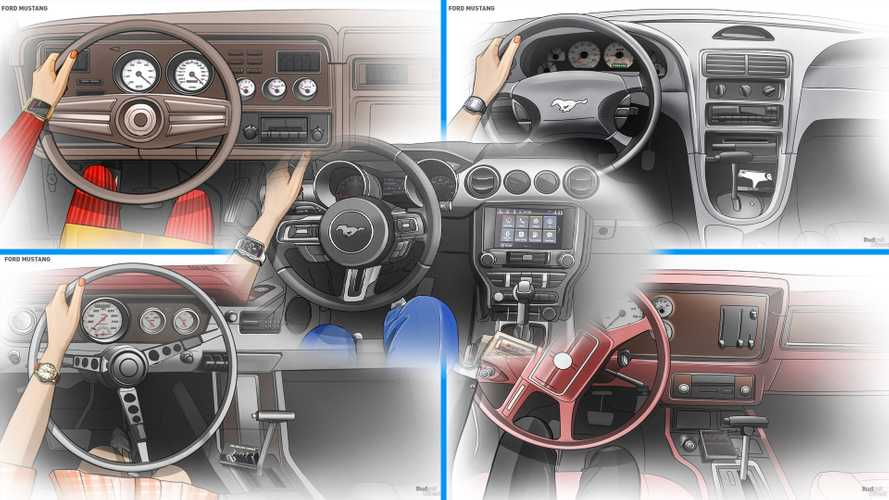 Check Out The Mustang Interior's Evolution Across All 6 Generations