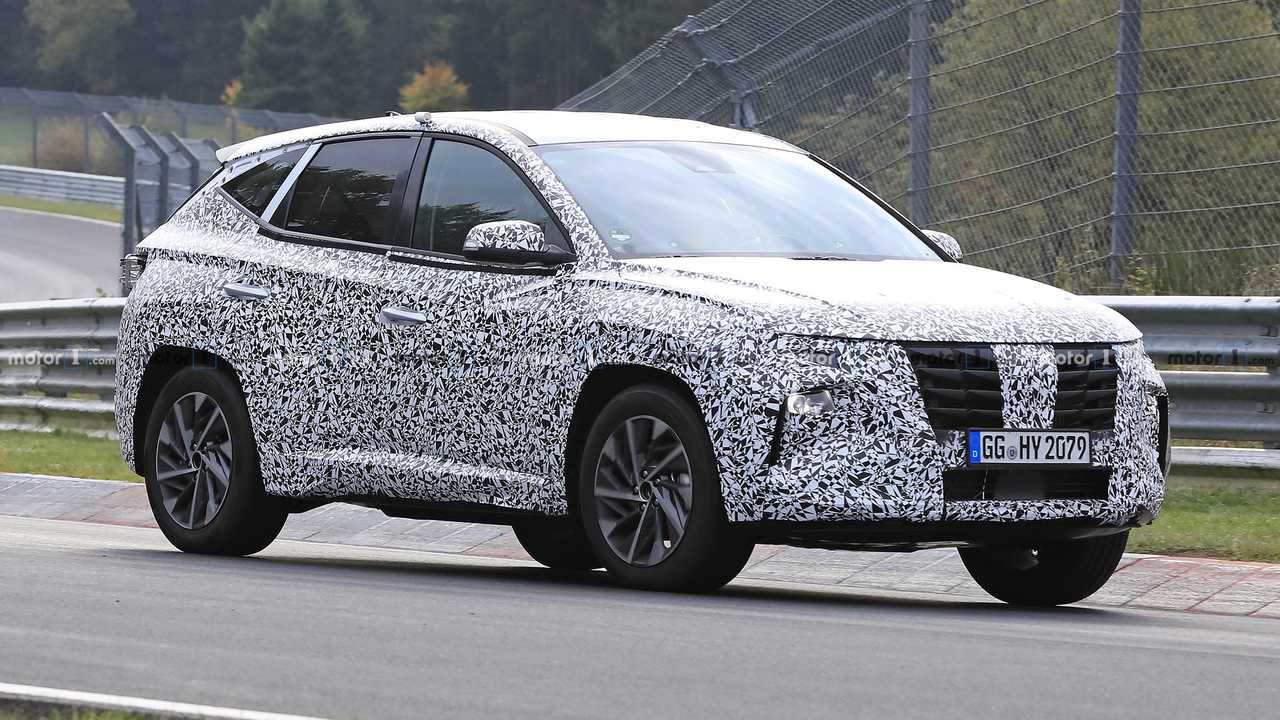 2021 Hyundai Tucson spy photo from Nurburgring