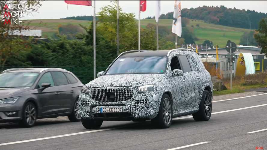 Mercedes-Maybach GLS spy video