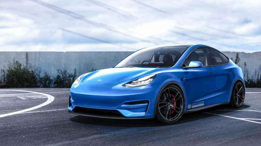 Unplugged Performance Renders Modded Tesla Model Y: 911 Turbo Beater