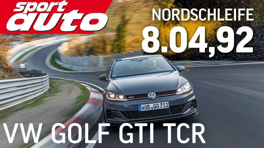 See VW Golf GTI TCR lap Nurburgring in 8:04.92