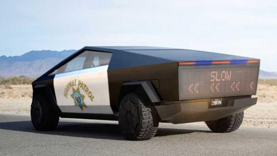 New Tesla Cybertruck Mock-Ups Include Border Patrol With Tesla ATV