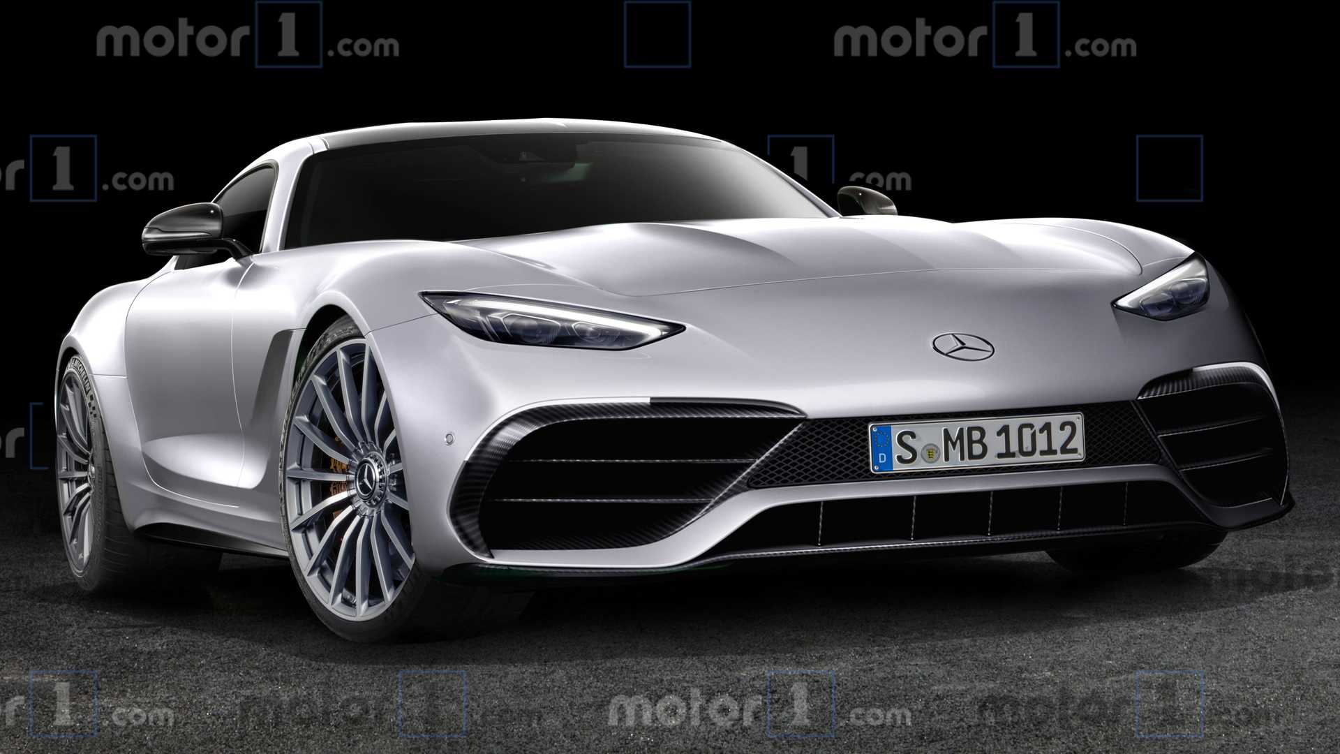 Mercedes-AMG GT Coupe rendered after Lewis Hamilton clay model
