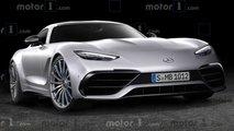 Mercedes-AMG GT Coupé anhand des geheimnisvollen Tonmodells gerendert