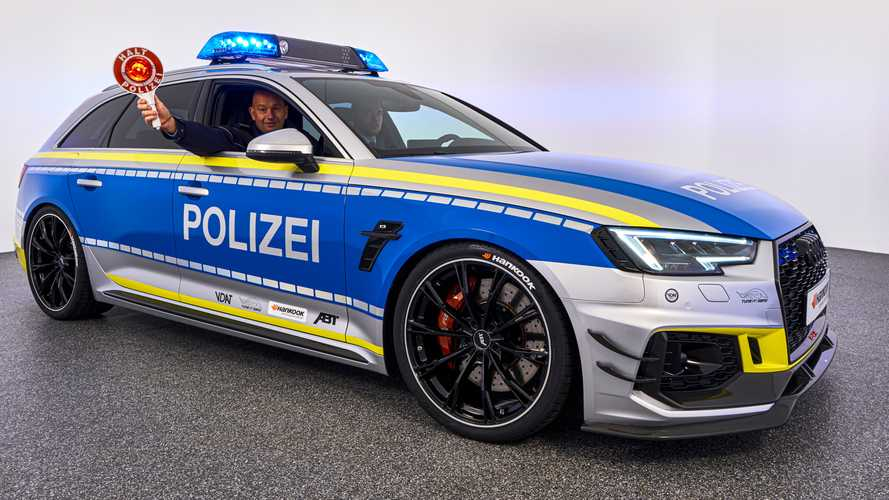 Audi RS4 Avant By ABT Turned Into 'Police Car' For Essen Show