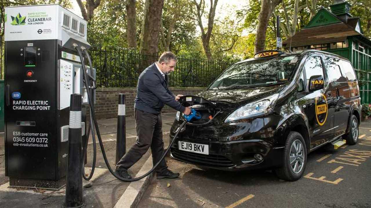 Un taxi elettrico di Londra