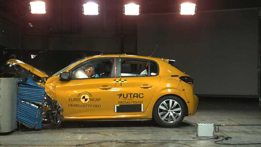 Seulement 4 étoiles au crash-test Euro NCAP pour la Peugeot 208