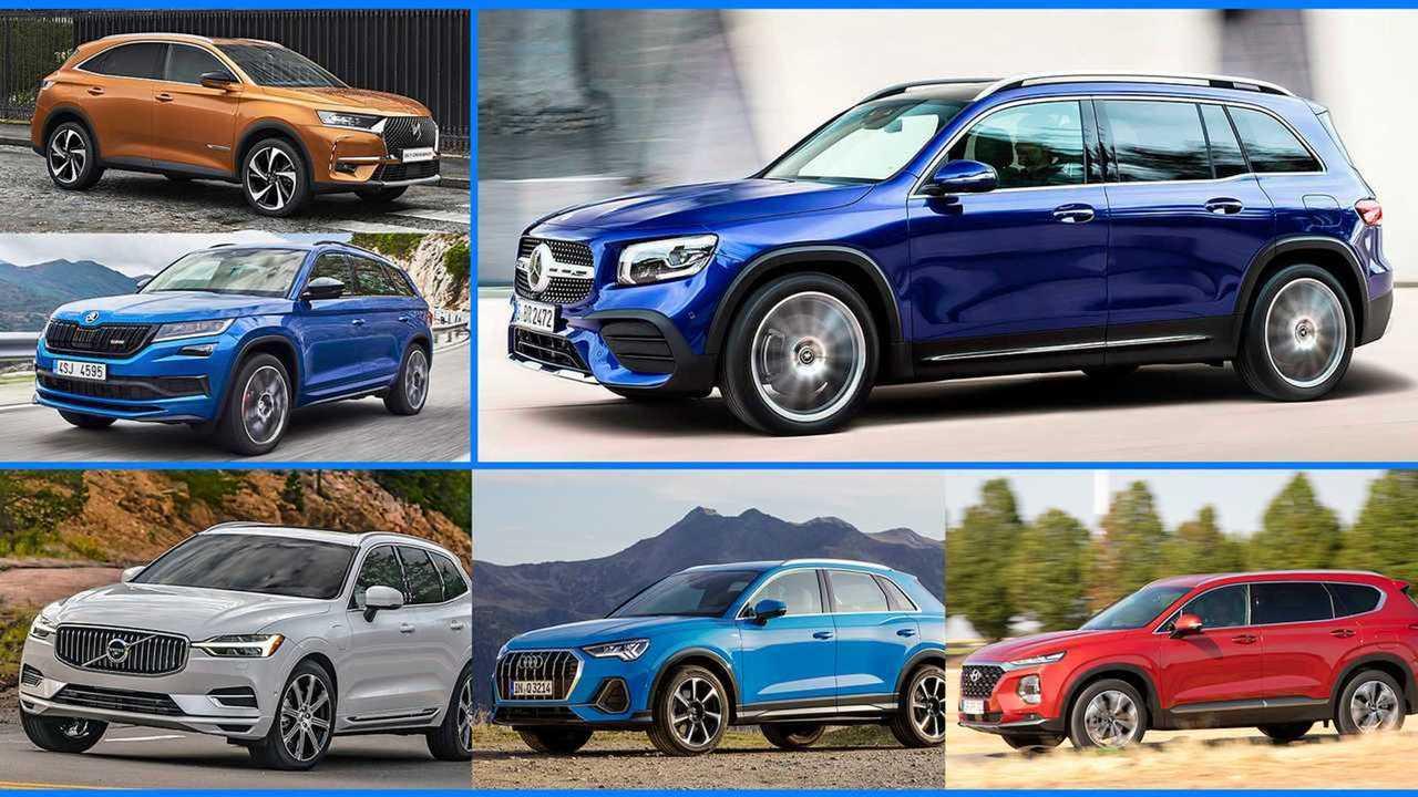 Mercedes GLB und seine Rivalen (Collage)