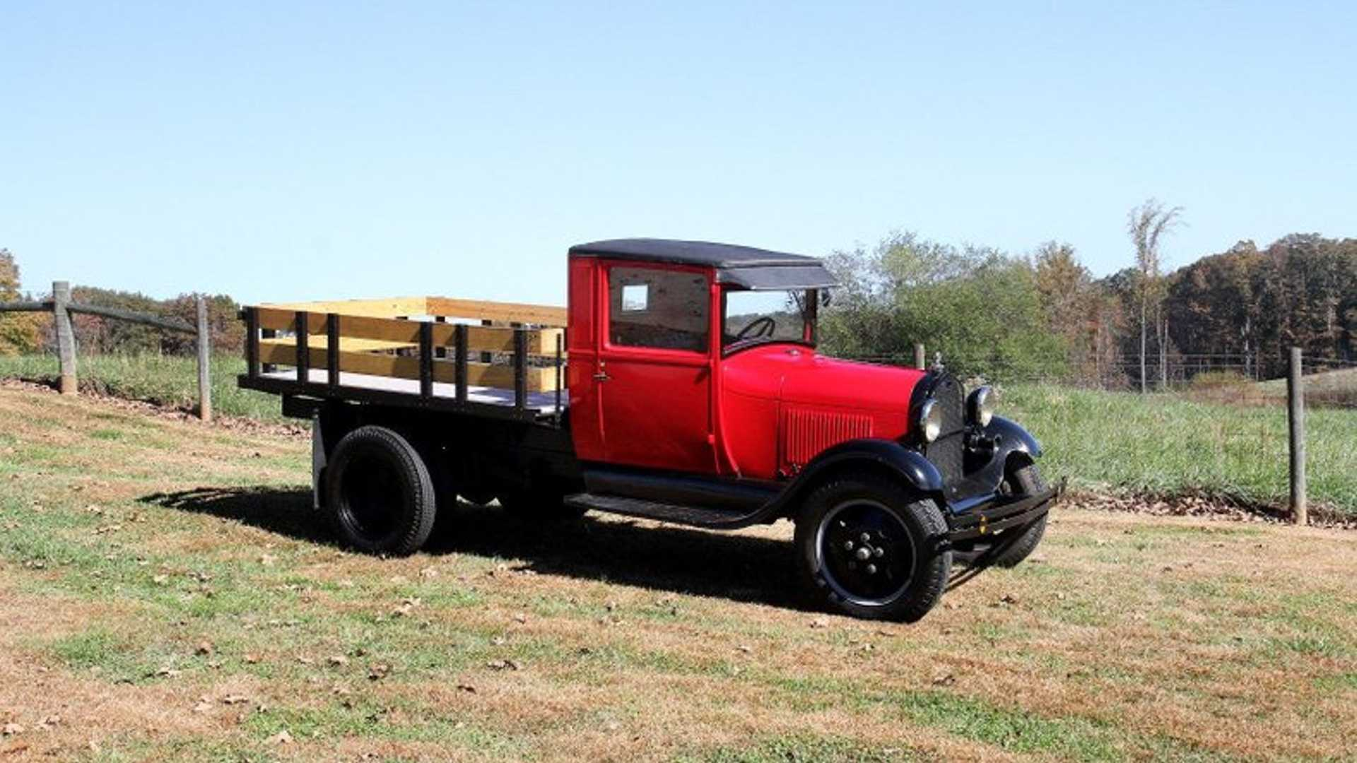 """[""""Haul Some With A 1930 Ford Model AA Truck""""]"""